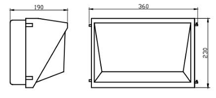 led-vegglampe-30watt-tegning